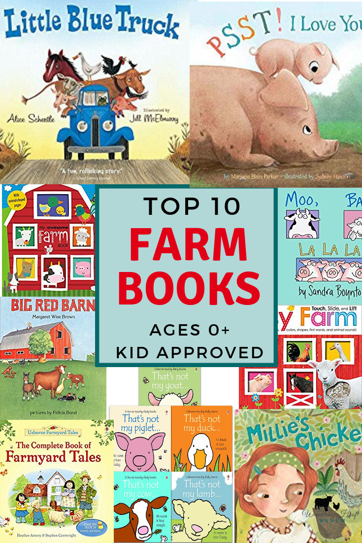 Top 10 Farm Books Ages 0+: Kid Approved farm board books. Great for babies and preschoolers learning about farm animals, sounds and live on the farm.
