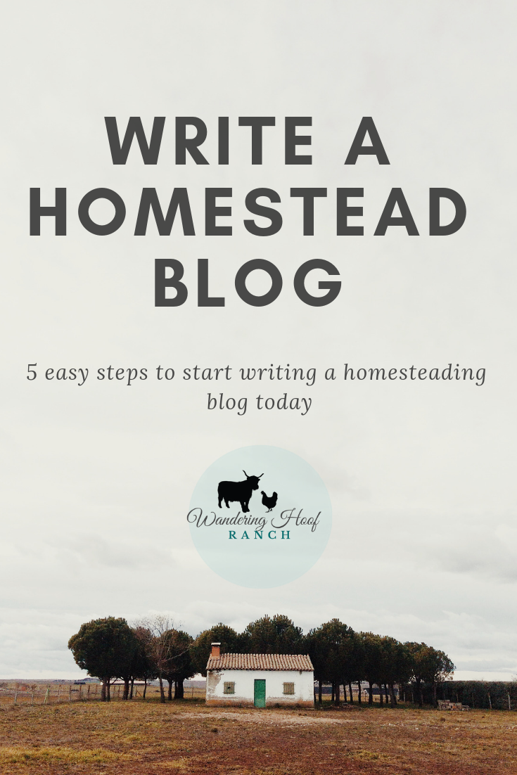 Want to start a profitable HOMESTEAD blog? It's an easy way to make money from home, easy to get started and you can do it anywhere in the world with wifi! I can help you do it fast and effectively with five easy steps.