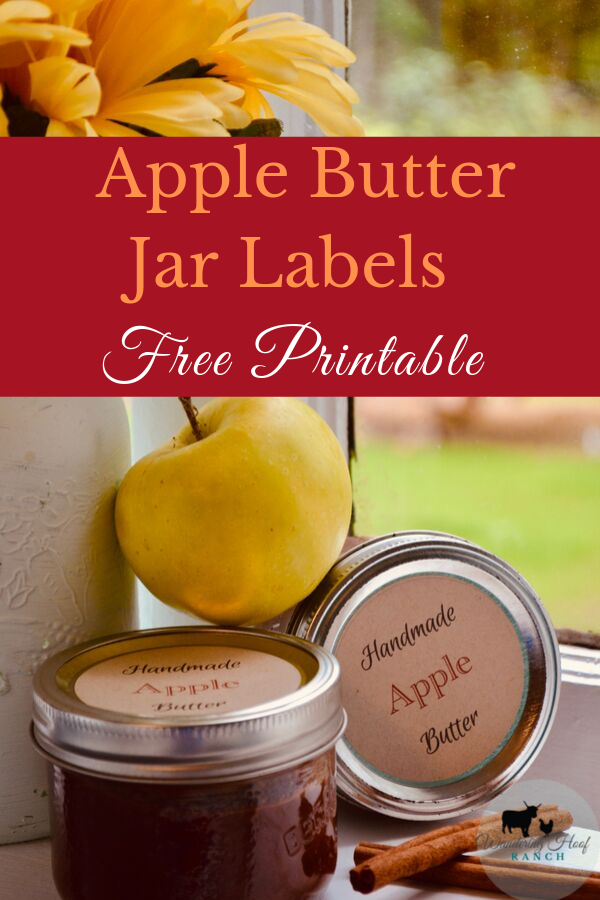 Free Apple Butter Canning Printable adds country charm to your jars! Read our Apple Butter Post to make your own, perfect for holiday gift giving.