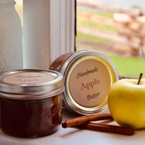 apple butter recipe & labels
