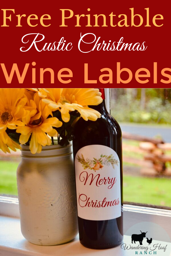 Holiday parties and bottles of wine – the perfect pair! Whether you're throwing a Christmas party, or you're in need of a killer host/hostess gift, a bottle or case of wine packaged with your own rustic Christmas wine labels adds the finishing touch.