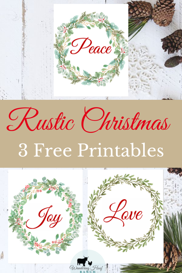 I made an early Christmas present for you today! This holiday seasons free rustic Christmas printables from Wandering Hoof Ranch are ready to go. Grab these 3 free prints to add a touch of rustic farmhouse to you holiday decor.