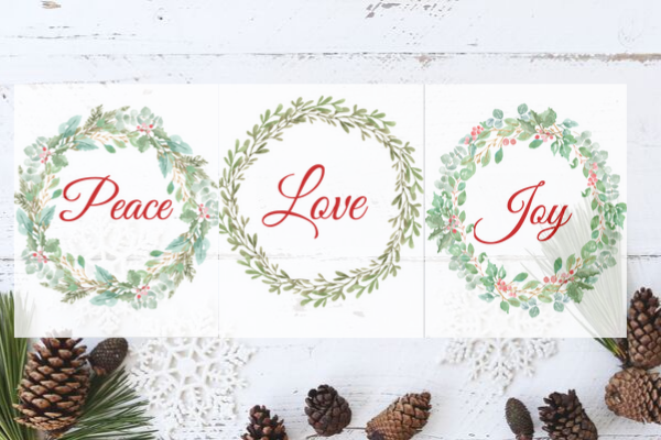 peace love joy printables