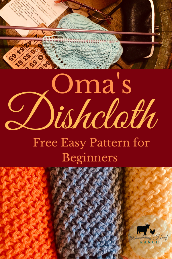 Knitting a dishcloth is a perfect project for a beginner knitter. Check out this free knitted dishcloth pattern our Oma uses over and over again. Traditionally it's known as the grandmothers dishcloth pattern. Learn it now to impress your own grandmother!