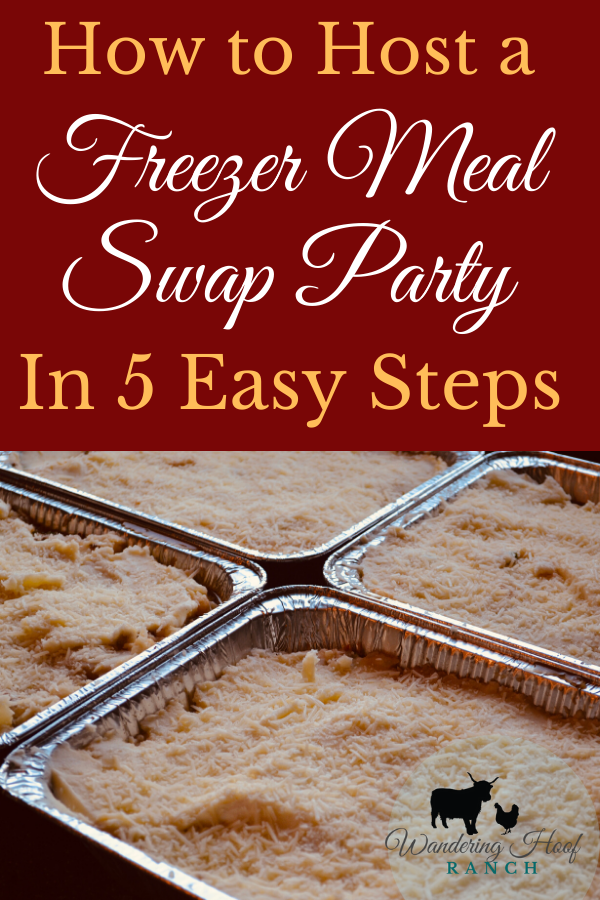how to host a freezer meal swap party in five easy steps.