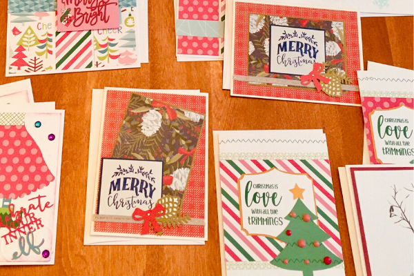 Simple Handmade Christmas Cards and Merry Christmas wishes and messages.