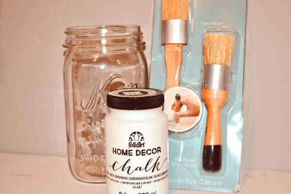CHALK PAINT MASON JAR SUPPLIES