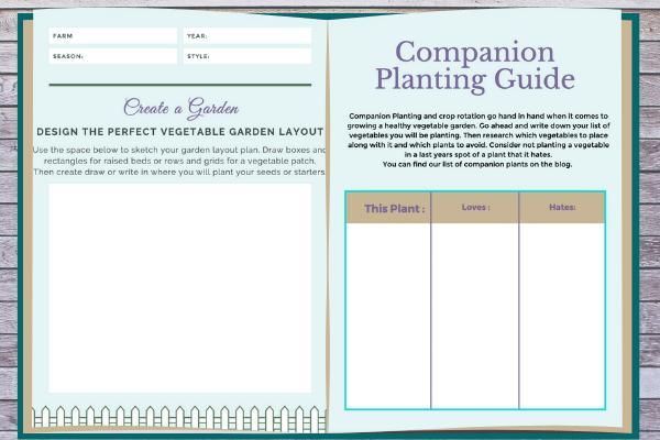 open veggie garden workbook pages
