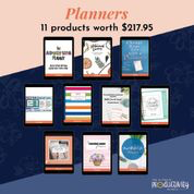planners 11 products worth 218