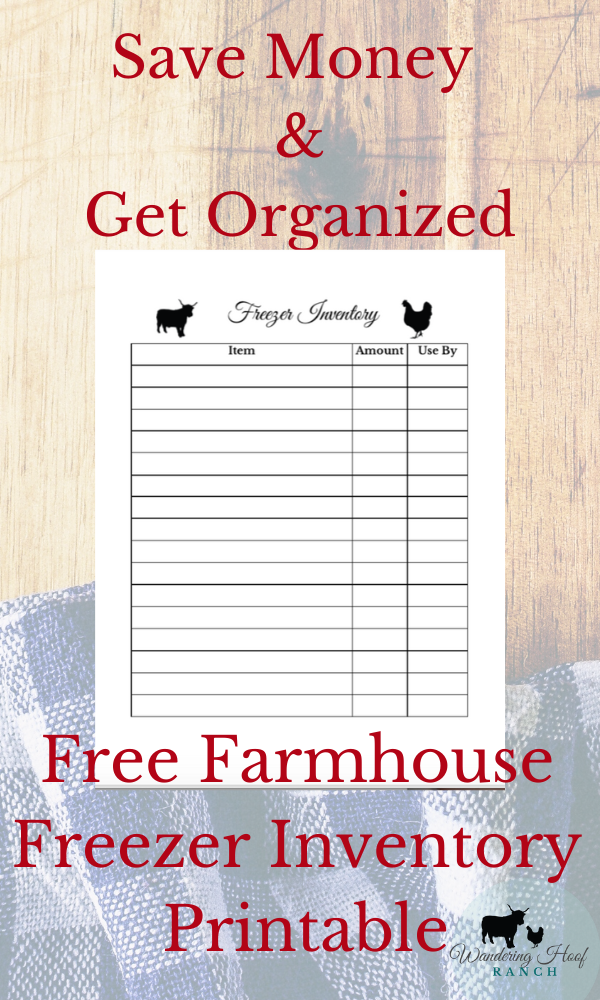 SAVE MONEY AND GET ORGANIZED FREEZER PRINTABLE