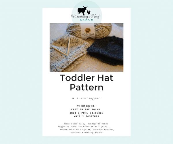 Toddler Hat Pattern PDF