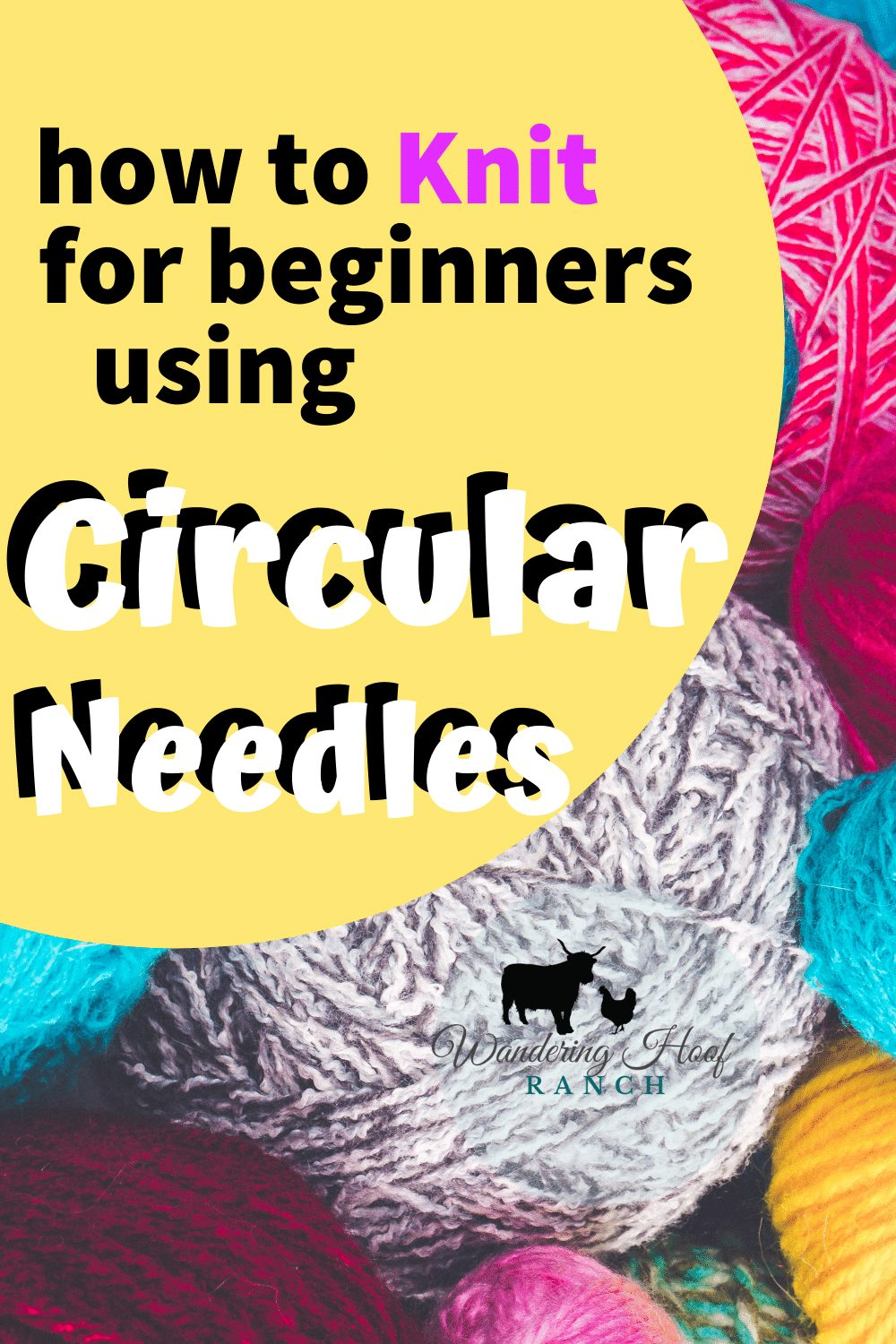 how to knit for beginners using circular needles