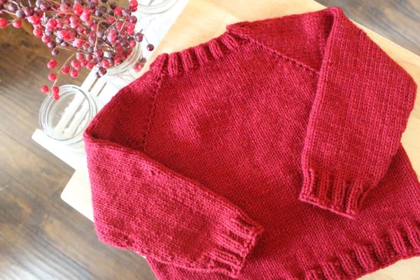 EASY Knit Projects for Beginners, Beginner Raglan Sweater Pattern