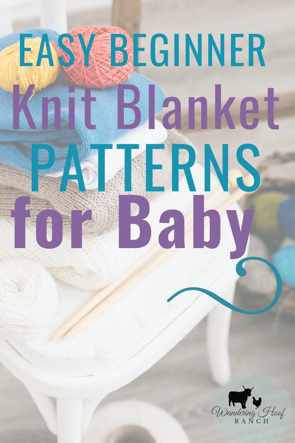 easy beginner knit blanket patterns for baby pin image