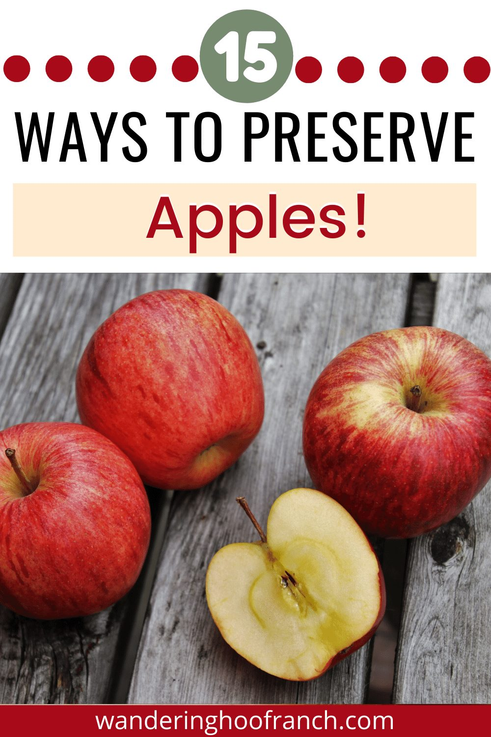 15 ways to preserve apples, pin image