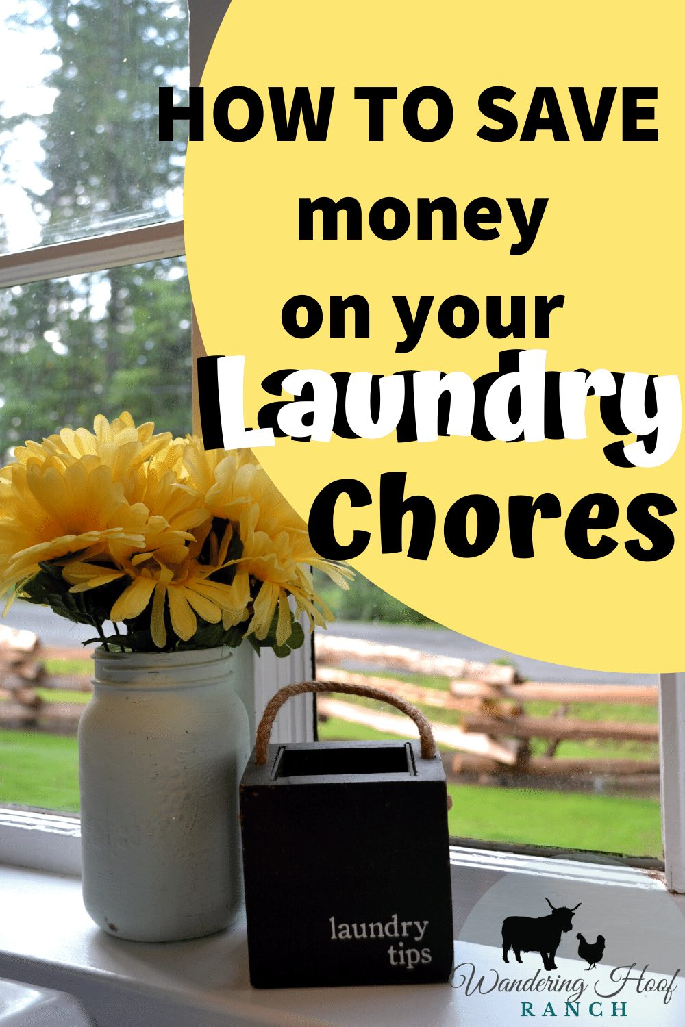 how to save money on your laundry chores