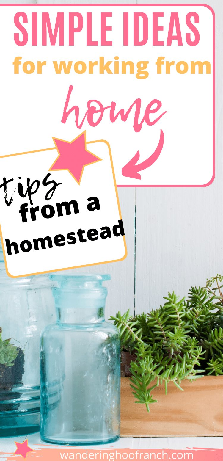 Simple ideas for working from home pin