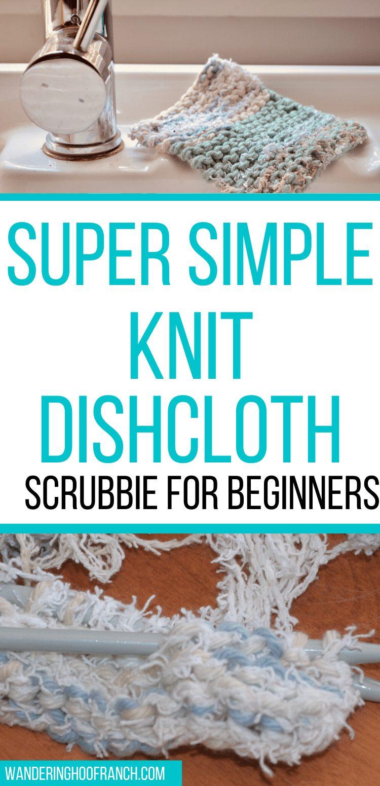 knit dishcloth scubbie