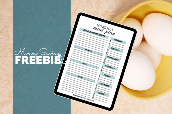 how to meal plan monthly 30 day