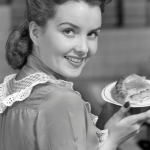 vintage homemaker with slice of pie