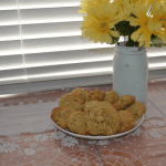 zucchini oatmeal cookies on tray