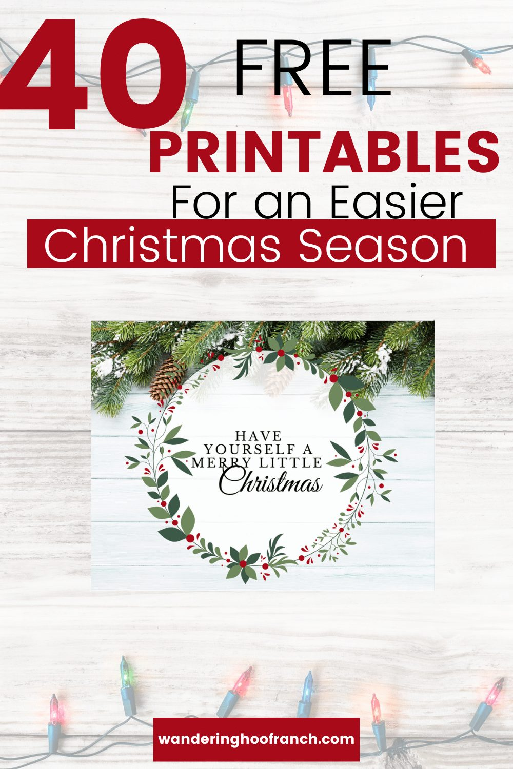 free Christmas printables pin