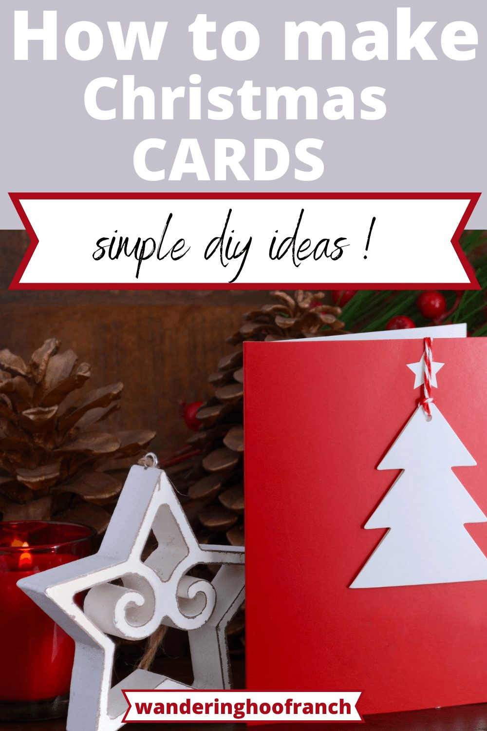 how to make Christmas cards simple diy ideas pin image