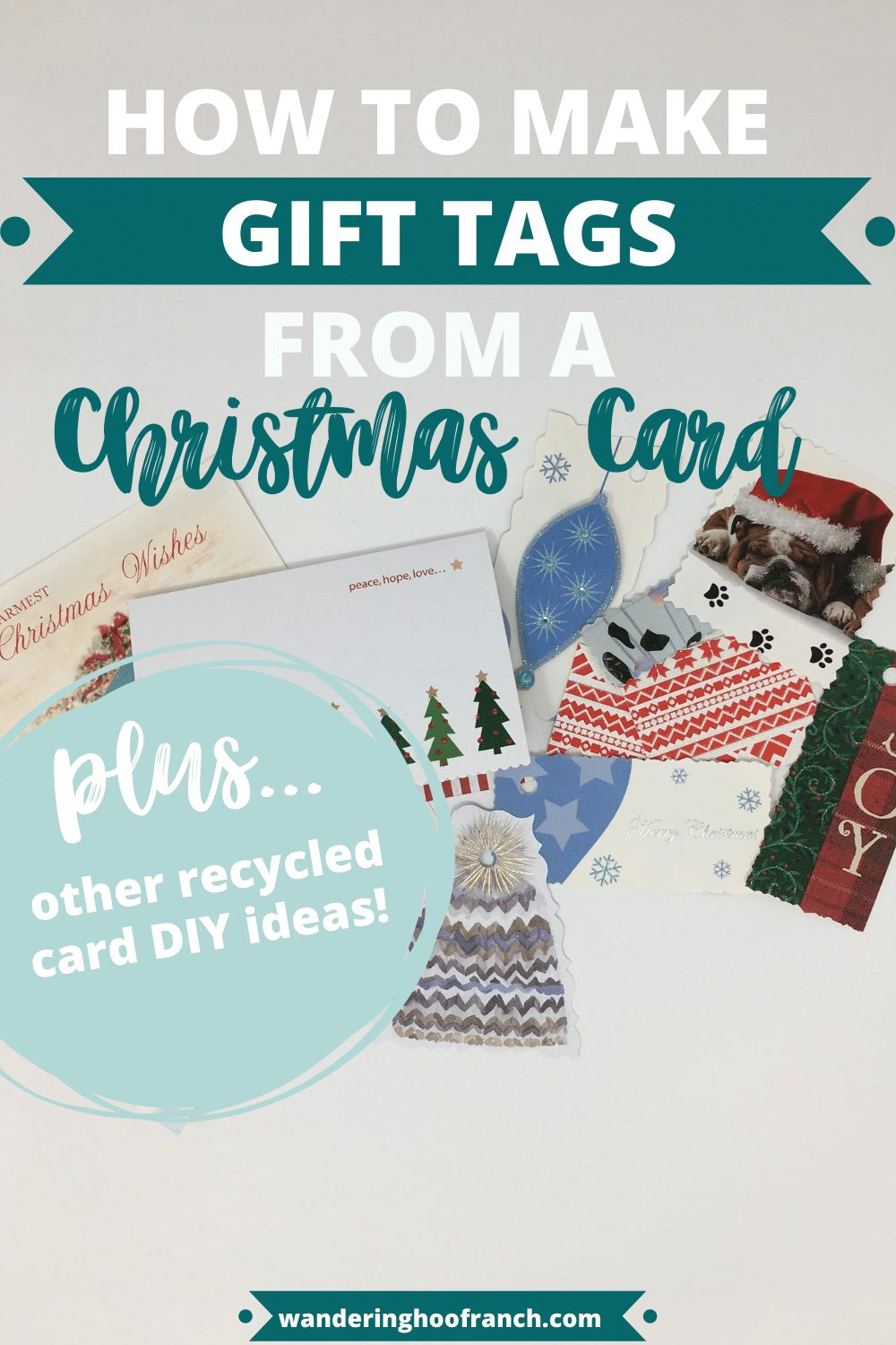 how to make gift tags from a christmas card
