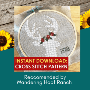 deer cross stitch pattern