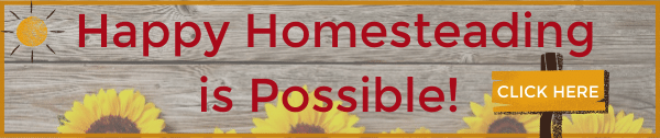 happy homesteading is possible banner image