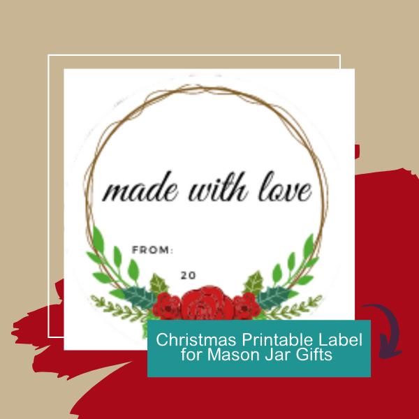 Christmas Printable Label