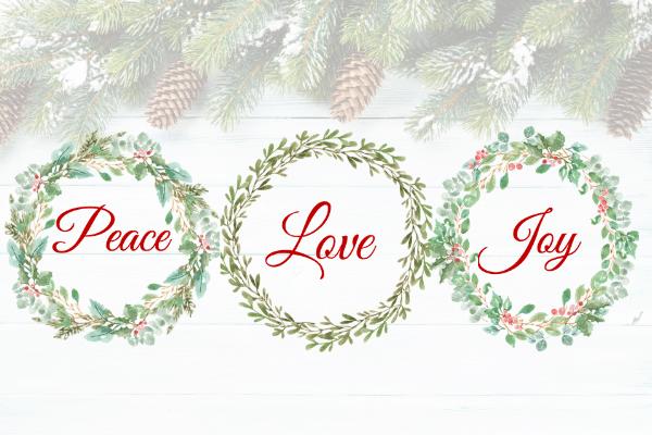 peace love joy printable