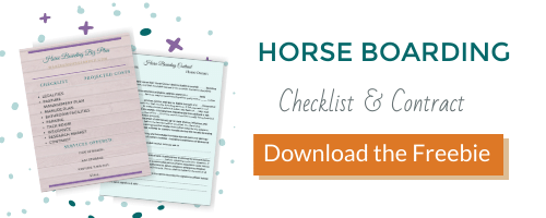Horse Boarding Checklist and Contract