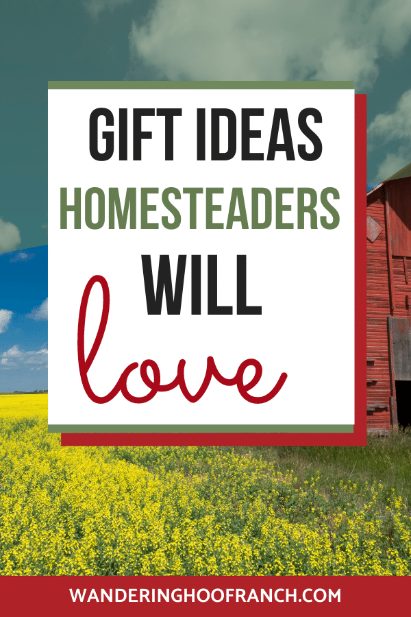 pinterest image, gift ideas that homesteaders will love