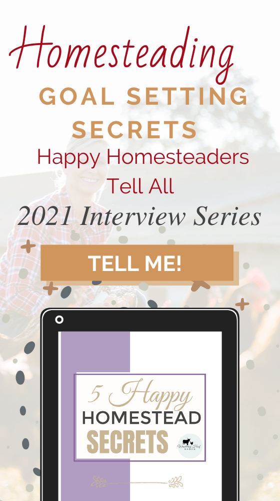 Homesteading Goal Setting Secrets
